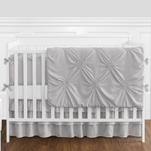 Solid Color Blush Pink Shabby Chic Harper Baby Girl Crib