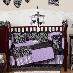 Purple And Black Kaylee S Boutique Baby Bedding 9 Pc Crib Set Only 189 99